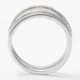 K10 ダイヤ ラインリング