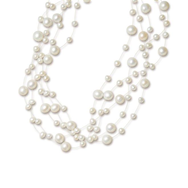 淡水パール ボリュームネックレス (ア)ホワイト系
