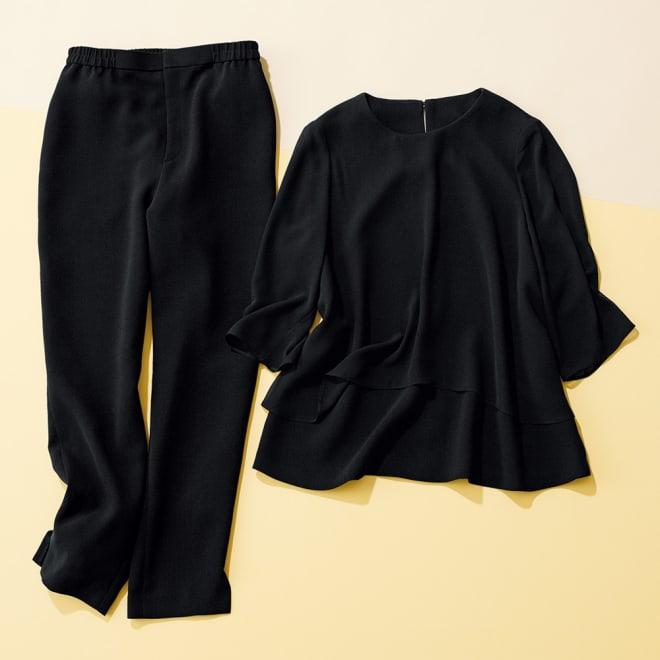 洗えるブラックフォーマル パンツスーツ 【ブラックフォーマル】