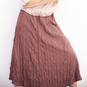 ランダムプリーツ Aラインスカート 写真