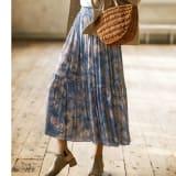 SO SOON/ソースーン マーブル風 プリントスカート 写真
