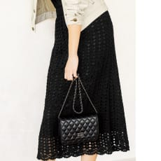 かぎ針松編み コットンニットスカート