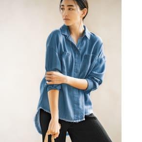 gram blue/グラムブルー ルーズシルエットシャツ 写真