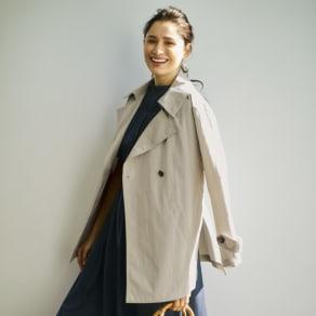 シャンブレー デザインハーフコート 写真