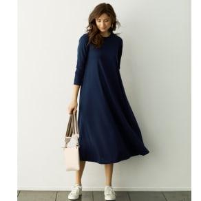 強撚糸ジャージー Aラインワンピース(日本製) 写真