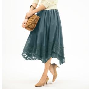 パニエ付き チュールフレアスカート 写真