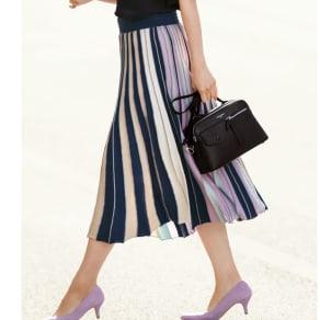 マルチカラー ニットスカート 写真