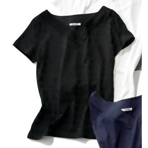 新美デコルテ(R) 合わせV開き 半袖Tシャツ 写真