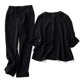 洗える ブラックフォーマル パンツスーツ 【ブラックフォーマル】 写真