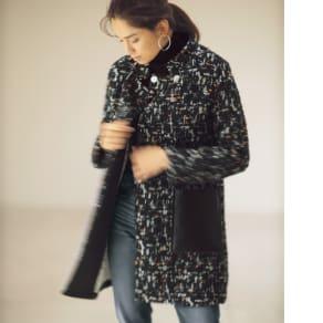 ツイードロングジャケット(イタリア製) 写真