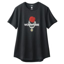 WORDROBE/ワードローブ デコライズTシャツ (イ)ブラック