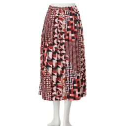 スカーフ柄 プリーツスカート