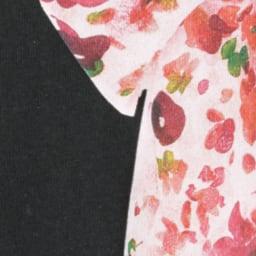 WORDROBE/ワードローブ プリントTシャツ (イ)ブラック(スカーフ柄)
