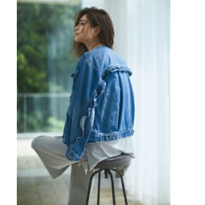 Moname/モナーム フリルデザインデニムジャケット 写真