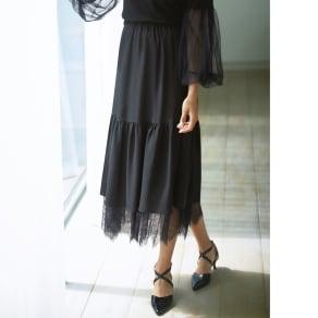 チュールレース リバーシブルスカート 写真