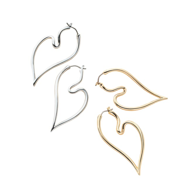 VENDOME BOUTIQUE/ヴァンドームブティック ハートシェイプシリーズ イヤリング・ピアス 左から(エ)シルバーピアス (イ)ゴールドピアス