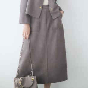 フェイクスエードシリーズ Aラインスカート 写真
