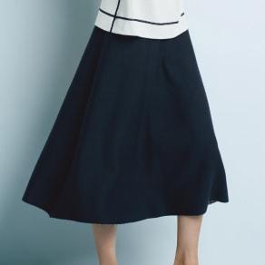 リバーシブル ニットスカート 写真