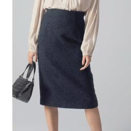 別注ツイードシリーズ セミタイトスカート コーディネート例