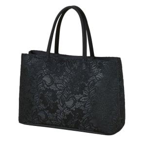 【ブラックフォーマル】 コードレース 二層式バッグ(日本製) 写真