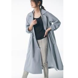 裾コンシール ハイテンションレギパン (ア)ライトグレー コーディネート例