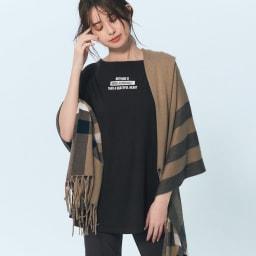 裾コンシール ハイテンションレギパン (イ)ブラック コーディネート例