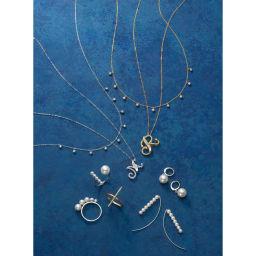 K18 ダイヤフリンジ ネックレス コーディネート例