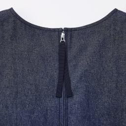 デニムAラインデザインワンピース Back Style