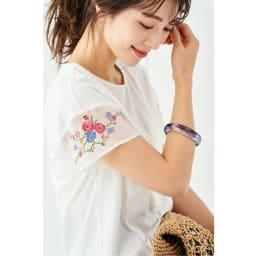 袖刺繍入り ジャージープルオーバー コーディネート例