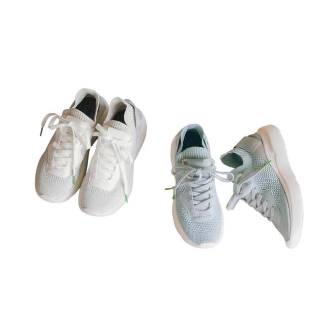 REPLAY/リプレイ エコ素材 スニーカー 左から(ア)ホワイト (イ)ライトグレー