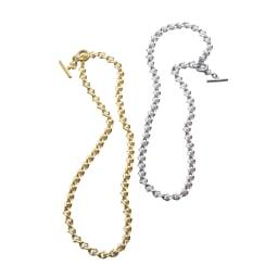 nico design/ニコデザイン パール調 チェーンネックレス 左から(ア)ゴールド系 (イ)シルバー系