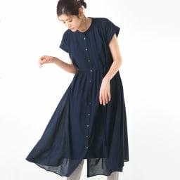 裾コンシール ハイテンションレギパン(日本製) (ア)ライトグレー コーディネート例