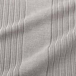 UVカット スパンシルク リブニットシリーズ 五分袖プルオーバー (ア)グレージュ
