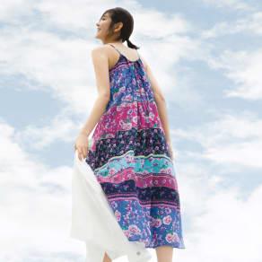 YUMI/ユミ パッチワーク風プリント キャミワンピース 写真