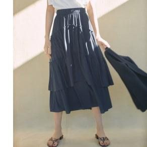 吸水速乾&UVカット 変形ティアードスカート 写真