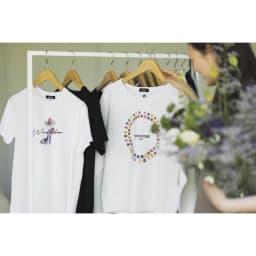 WORDROBE/ワードローブ パンプス柄 Tシャツ (ア)ホワイト ※左側の商品です。