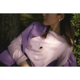 デオファクター(R) ふわもち綿スムース ロングTシャツ (イ)ライトピンク コーディネート例