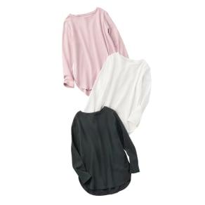 デオファクター(R) ふわもち綿スムース ロングTシャツ 写真