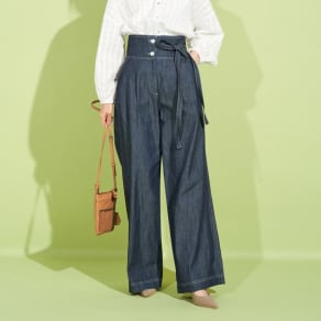 SO SOON/ソースーン デニム リボンデザイン パンツ 写真