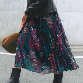 Molly Bracken/モーリーブラッケン 花柄 プリーツスカート 写真