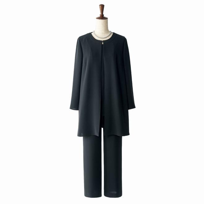 抗菌加工 洗える ストレッチ パンツスーツ コーディネート例