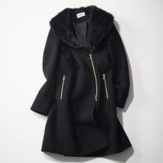 CIVAS/チバス フェイクファー使いコート(イタリア製)