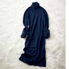 BLUE ICE/ブルー アイス 裾スリットチュニックドレス(イタリア製)