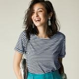 新美デコルテ(R) シリーズ クルーネック半袖Tシャツ 写真
