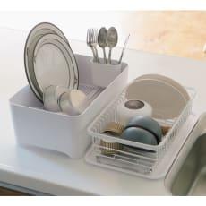 洗い桶にもなるウォッシュタブ付きの水切りセット YOHAKU 余白