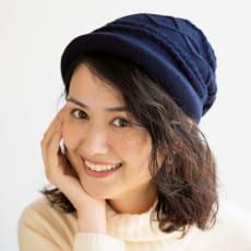 髪型が崩れにくい 蓄熱糸使用ゆったりニット帽