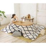 【1正方形】190×190cm こたつ掛け毛布(ウール・コットン「ジオメトリック」) 写真