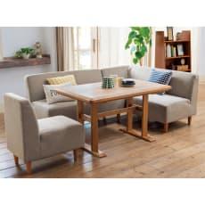 【3長方形】120×75cm アルダー天然木ダイニングこたつシリーズ こたつテーブル
