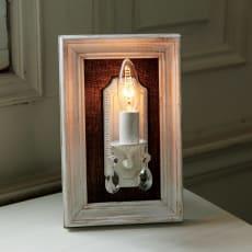 壁掛けもできるLED照明 アンティーク調 フレーム付ランプ 1灯