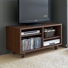 配線すっきりキャスターテレビ台  オープンタイプ 幅101cm